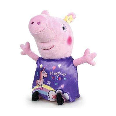 Peluche Peppa Pig 45cm - vestido violeta