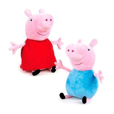 Peluche Peppa Pig & George 20cm