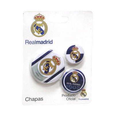 Set de 3 chapas Real Madrid