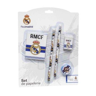 Set de papelería 5 piezas Real Madrid
