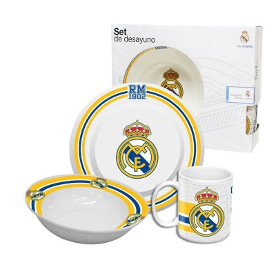 Set desayuno 3 piezas cerámica Real Madrid