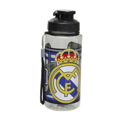 Botella plástico semitransparente 500ml Real Madrid