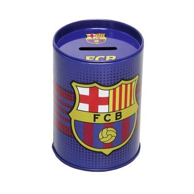 "Hucha cubilete metal FCB Barcelona 10cm 5"""