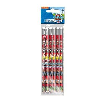 Set 6 lápices con goma Paw Patrol