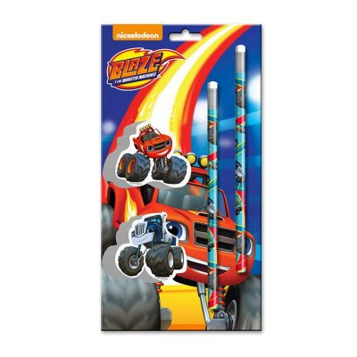 Wholesaler of Blaze and the Monster Machines 2 pens and 2 erasers set