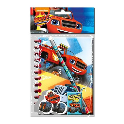 Set de papelería 4 piezas Blaze and the Monster Machines