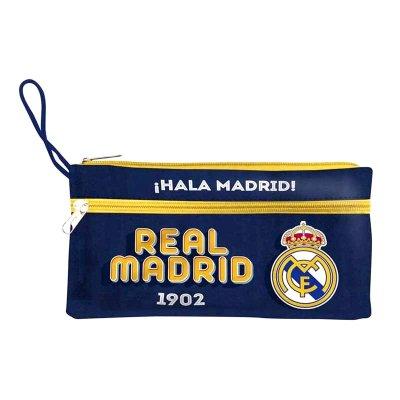 Estuche Real Madrid triple cremallera