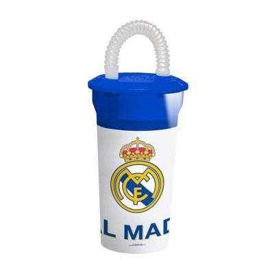 Wholesaler of Real Madrid 400ml tumbler with lid and straw