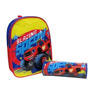Set mochila 30cm y portatodo Blaze and the Monster Machines