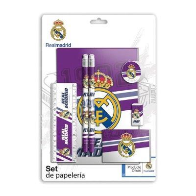 Set de papelería 7 piezas Real Madrid
