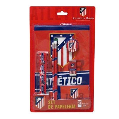 Set de papelería 7 piezas Atlético de Madrid