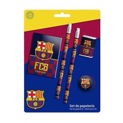 Set de papelería 5 piezas FCB Barcelona