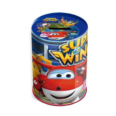 Hucha cubilete metal Super Wings 10cm 4""