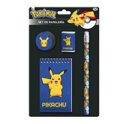 Set de papelería 4 piezas Pokemon