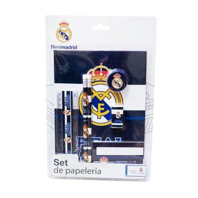 Set de papelería 7 piezas FC Real Madrid
