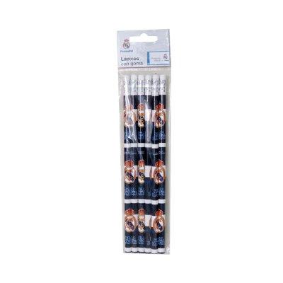 Set 6 lápices con goma Real Madrid F.C