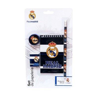 Set de papelería 4 piezas FC Real Madrid azul