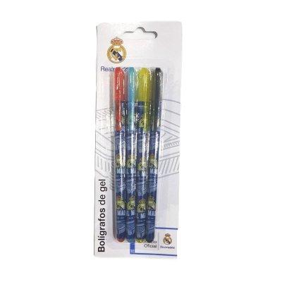 Set de 4 bolígrafos gel Real Madrid