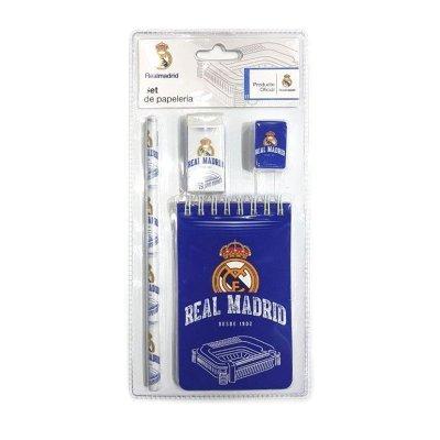 Set de papelería 4 piezas Real Madrid