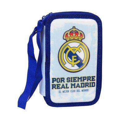 Estuche relleno 3 cremalleras Real Madrid F.C