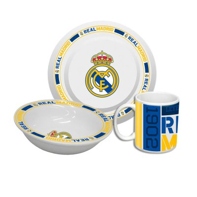 Set desayuno 3 piezas cerámica Real Madrid 1902