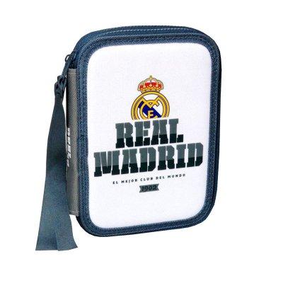 Estuche relleno 2 cremalleras Real Madrid F.C