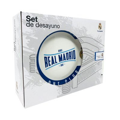 Set desayuno 3 piezas cerámica Real Madrid FC