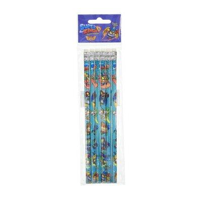 Set 6 lápices con goma Superzings