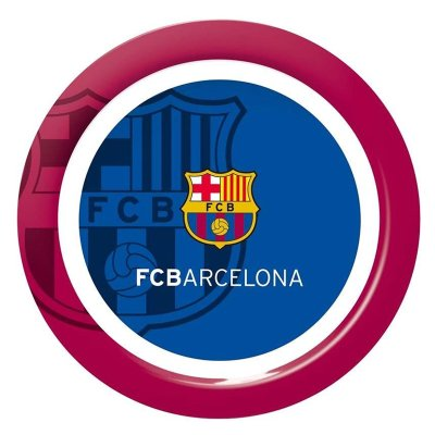 Plato llano plástico melamina F.C. Barcelona
