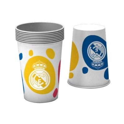 8 vasos desechables 20cl Real Madrid