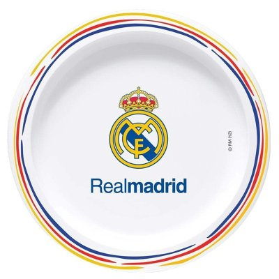 Plato llano plástico melamina Real Madrid