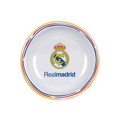 Plato hondo plástico melamina Real Madrid