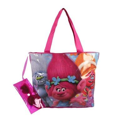 Bolsa de playa con gafas Trolls 36cm