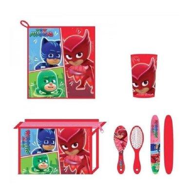 Set de viaje 5 piezas PJ Masks - modelo rojo