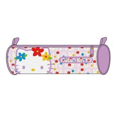 Estuche Hello Kitty cilí­ndrico - color violeta