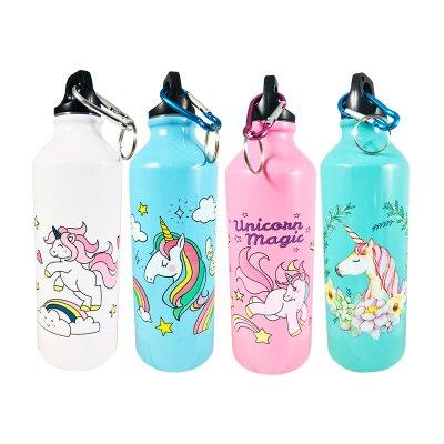 Botella aluminio 550ml Unicornio Magico - modelo 2