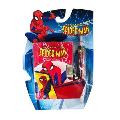 Diario con candado y bolígrafo Spiderman - modelo 2
