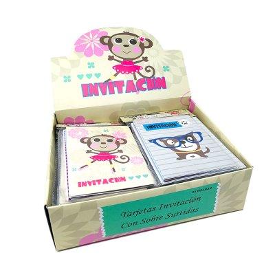 Expositor tarjetas invitación Animales