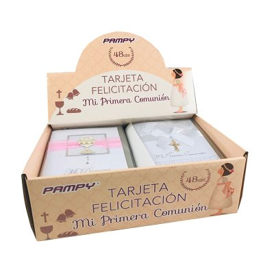 Expositor 48 tarjetas felicitación Primera Comunión