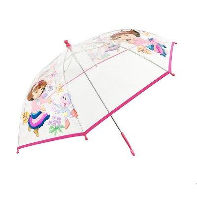 """Wholesaler of Paraguas transparente manual Dora La Exploradora 46cm 18"""" - modelo rosa"""