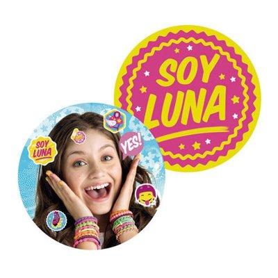 Cojín redondo Soy Luna 35x35cm
