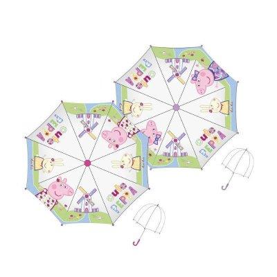 Paraguas transparente manual Peppa Pig 48cm-color violeta