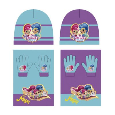 Set gorro bufanda guantes Shimmer and Shine