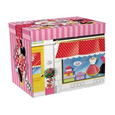 Caja almacenaje tapiz con juegos Minnie Disney