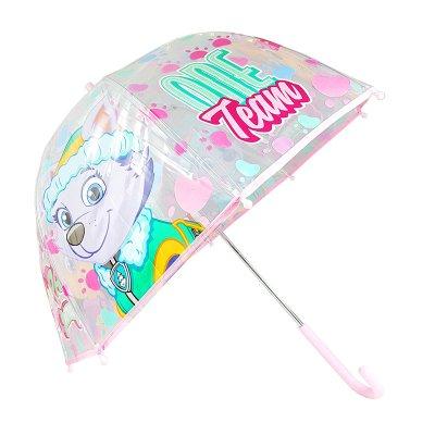 Paraguas cúpula transparente manual Paw Patrol Girls 48cm - rosa
