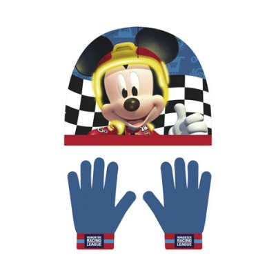 Set gorro guantes Mickey and The Roadster Racers
