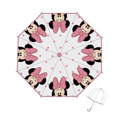 Paraguas transparente manual Minnie Mouse 46cm - rosa