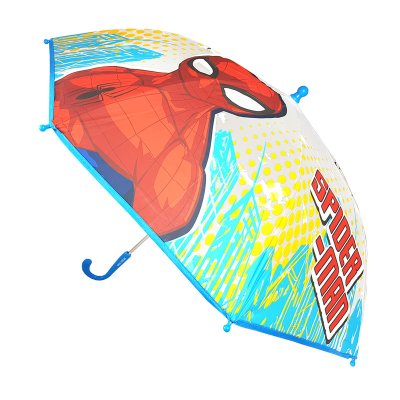 Paraguas semitransparente manual Spiderman 46cm - azul