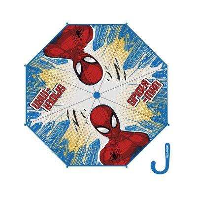 Paraguas manual burbuja Spiderman 46cm - azul