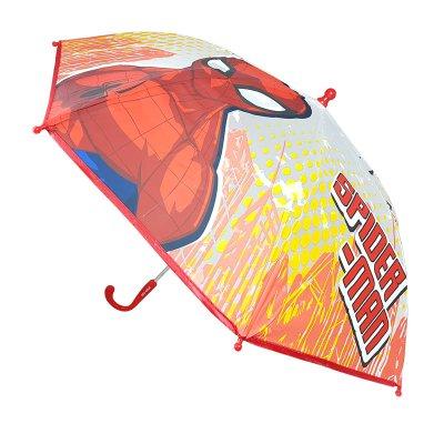 Paraguas semitransparente manual Spiderman 46cm - rojo
